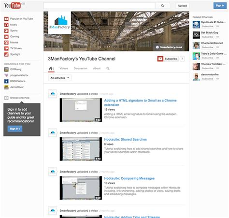youtube channel layout change youtube s one channel layout rolls out to all users