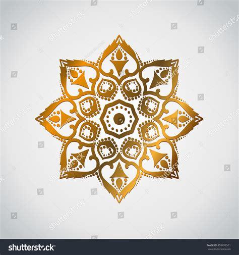 tattoo mandala gold set gold mandala circle ornament your stock vector