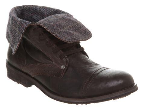 mens boots fold mens firetrap virado fold brown leather boots dd ebay