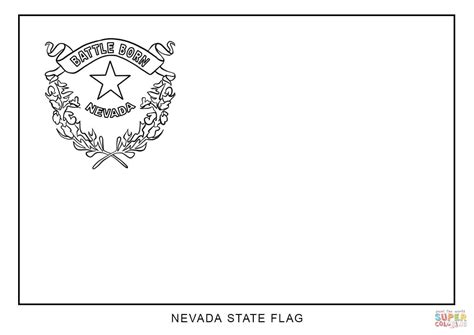 Flag Of Nevada Coloring Page Free Printable Coloring Pages State Flag Coloring Pages