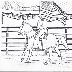 click     printable rodeo flag girl coloring