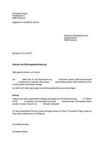 Muster Rechnung Putzfrau Zahlungserleichterung Vorlage Muster Und Vorlagen Kostenlos