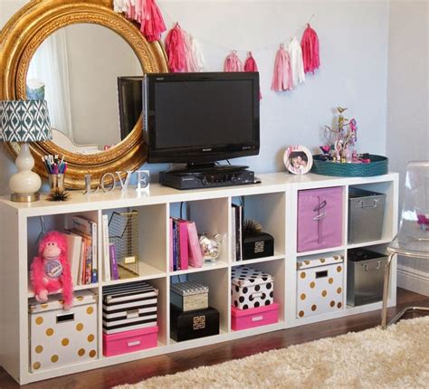 diy bedroom storage she buys storage cube shelves uses them in clever new