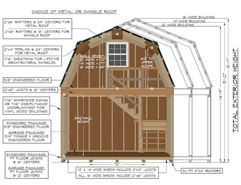 gambrel cabin plans construction specifications on a 2 story gambrel barn from