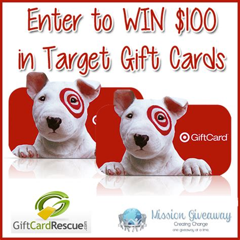 Gift Card Rescue Coupon - win 2 50 target gift cards with the missiongiveaway gift card rescue 187 coupons