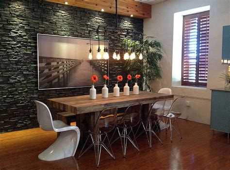 30 Ways To Create A Trendy Industrial Dining Room Industrial Dining Room Lighting