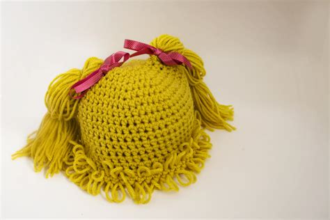 cabbage patch hat with pigtails free pattern cabbage patch inspired pigtail hats patterns jenn