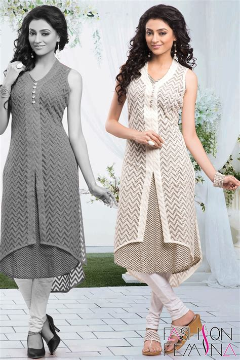 net kurti pattern images elegant off white embroidery net kurti