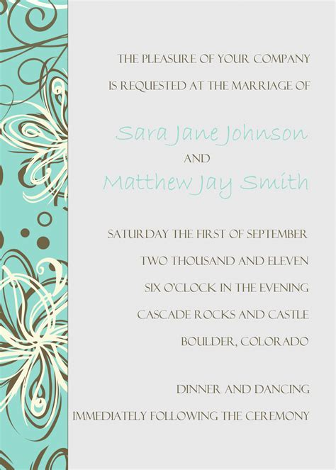 template of wedding invitation free wedding invitation templates cyberuse