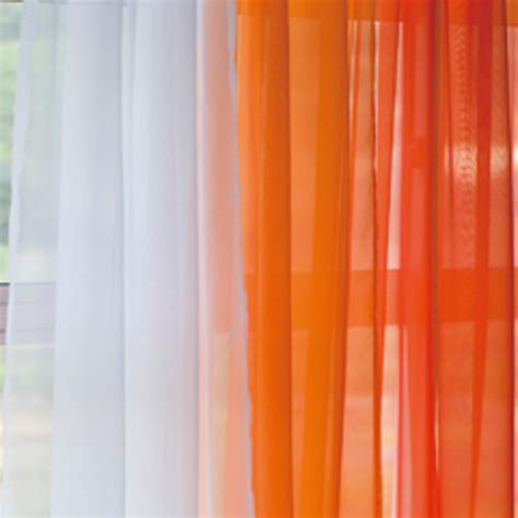 Orange Curtains Voile Silk Sheer Curtains