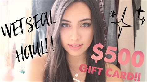 Wet Seal Gift Card - wet seal haul 500 gift card youtube