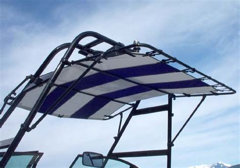 boat tower bimini tops bart s water sports tubelite tower bimini tops