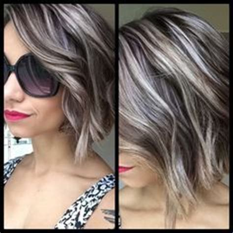 salt and pepper hair with lilac tips 17 best ideas about gray hair highlights on pinterest