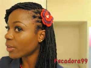 hair styles for locked hair quick and easy lock hairstyle youtube
