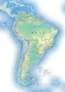 south america detailed topographical map detailed