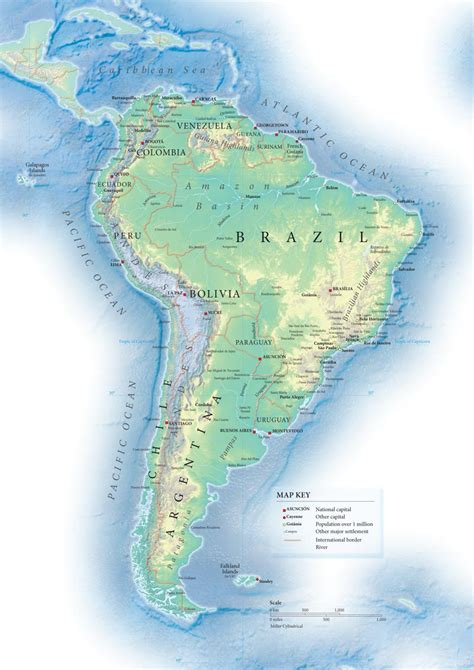 america topographic map topographic map of south america