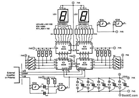 led volume indicator circuit audio lifier volume indicator led and light circuit circuit diagram seekic