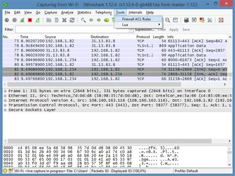 wireshark ios tutorial como criar regras de firewall no wireshark pplware