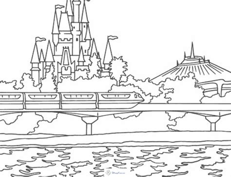magic kingdom monarail space mountain cinderella s
