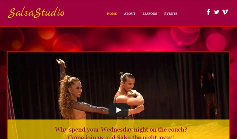templates for dance website download free top best dance studio website templates