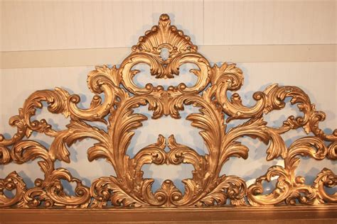 wood carving bed vintage carved wood and gesso rococo style king size bed