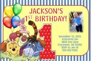 winnie the pooh birthday invitation custom designed pooh