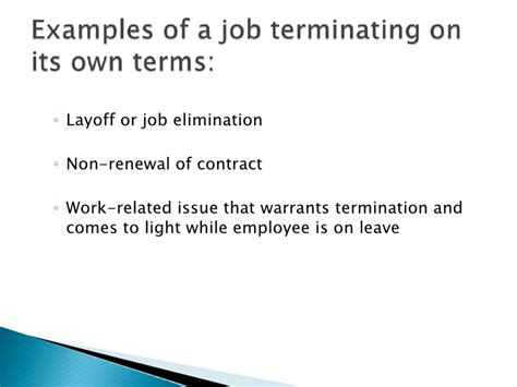Nonrenewal Of Employment Contract Letter By Employer Workers Comp And Fmla