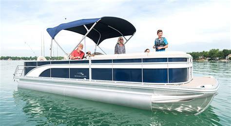 luxury pontoon boat brands sx25 premium cruise fishing pontoon boats by bennington