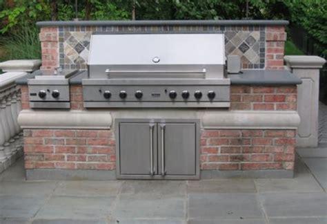 Outdoor Brick Kitchen Plans by Brick Barbeque Veneer Landscaping Network
