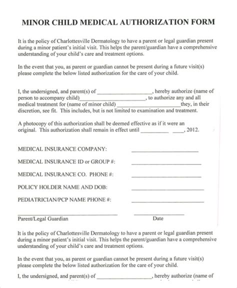 Medical Consent For Minors Images Download Cv Letter And Format Sle Letter Authorization Form For Grandparents Template