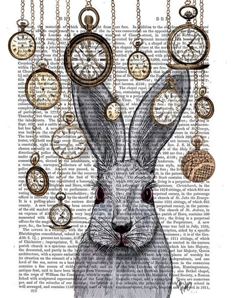 printable white rabbit clock alice in wonderland decor white rabbit alice in wonderland