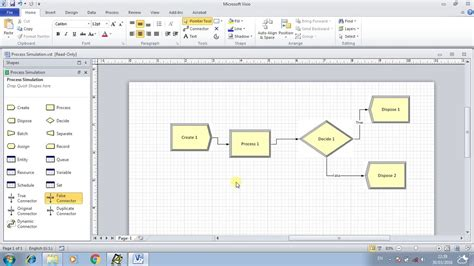 visio simulation visio and arena visio process simulator how to build