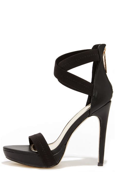 High Heels At11 Hitam 70 black heels ankle heels platform heels 38 00