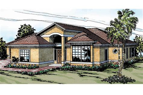 Mediterranean House Plan by Mediterranean House Plans Odessa 11 021 Associated Designs