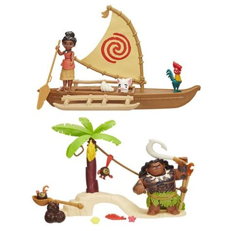 moana boat playset moana small action figure playsets wave 1 figure action