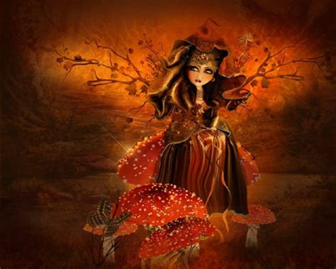 Fall Witch Season by Autumn Witch Abstract Background