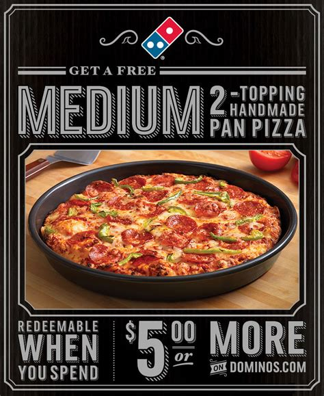 Handmade Pan Pizza Coupon - handmade pan pizza coupon 28 images dominos coupons