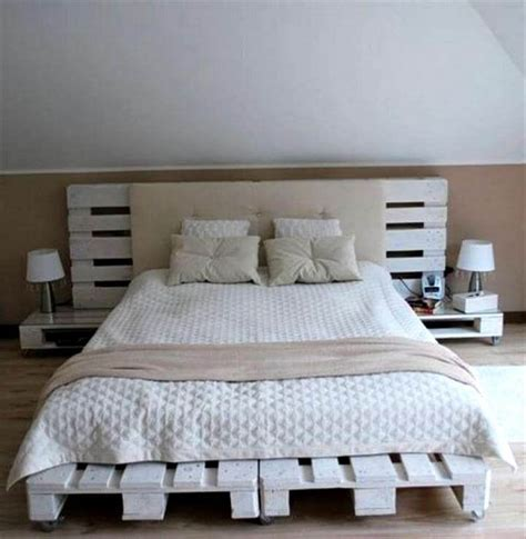 bed with pallets 15 cool projects made from pallets