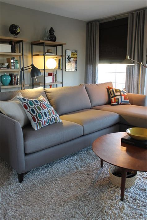 crate and barrel living room mid century modern style with crate and barrel sectional