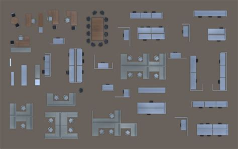 psd 2d floorplan furniture 3d model cgtrader com 2d office furniture floorplan top view psd 3d model render