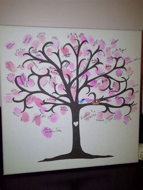 Tree For Baby Shower by Thumbprint Tree At The Baby Shower Or A Great Idea For A