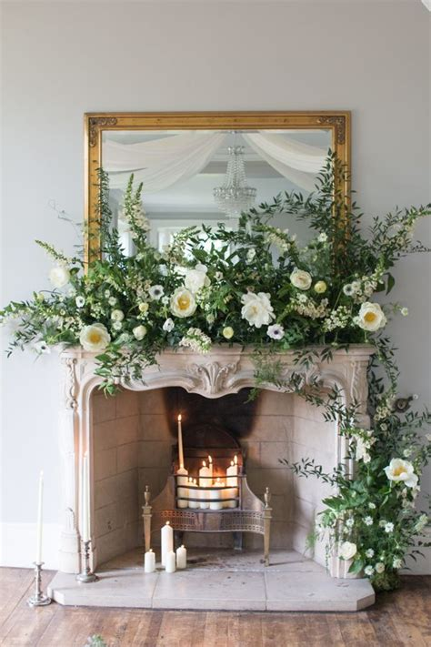 Flower To Decorate A Wedding by 17 Best Ideas About Wedding Fireplace Decorations On