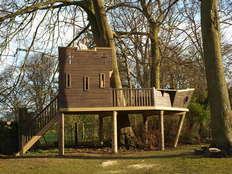 Uk House Designs And Floor Plans Large Pirate Play Ship Treehouses The Playhouse Company