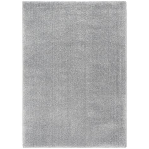 Microfiber Area Rug Ecarpet Gallery Plush Velours Gray Microfiber Shag 8 Ft X 10 Ft Area Rug 197025 The Home Depot