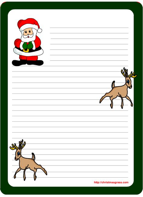 printable christmas note paper free free printable letter pad christmas stationery with santa