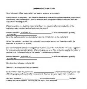 sample general evaluation 5 documents in pdf word