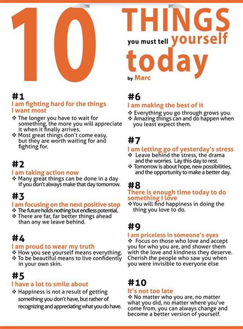 10 Words To Remember For A Healthy by 10 Things You Must Tell Yourself Pictures Photos And