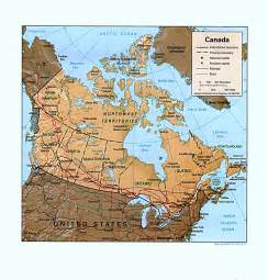 canada on map nationmaster maps of canada 62 in total