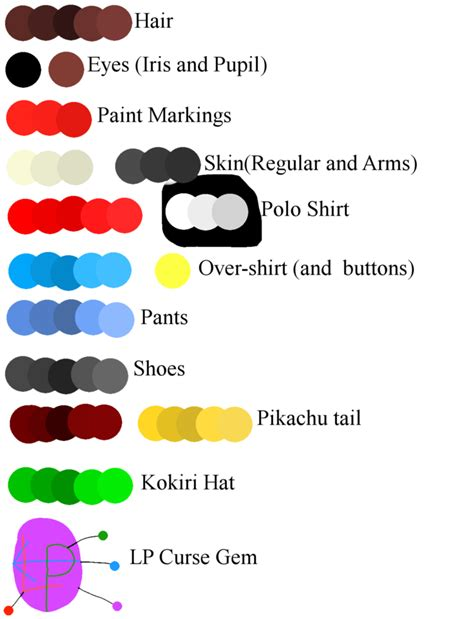Cursed Colors by Curse Color Template By Thesaturnianwildcat On Deviantart