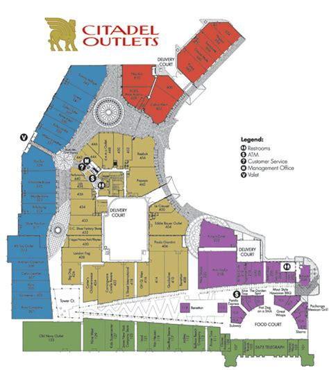 outlet california map california outlets map california map